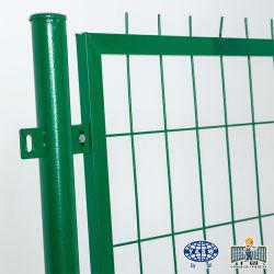 Livro verde de ferro galvanizado revestido a vinil malha de arame soldado empurrador de Jardim
