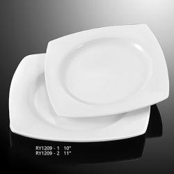 Hot Sale épaisse plaque en céramique carrée durables assiette à soupe Cuisine utilisé