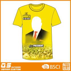 선전용 정치적인 주문 선거 t-셔츠