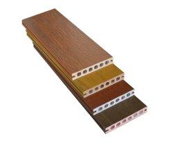 À prova de água Co-Extruded PVC WPC Hollow Deck do piso composta, decoração exterior