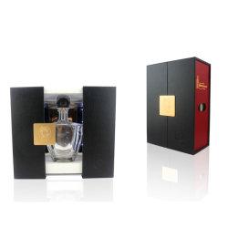 Rojo y negro de lujo de la rampa de LED PU Deslice la caja de vino