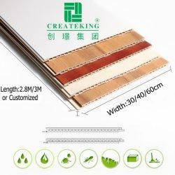 Padrão de madeira decoração do interior do painel de PVC forro de PVC do painel da parede de PVC