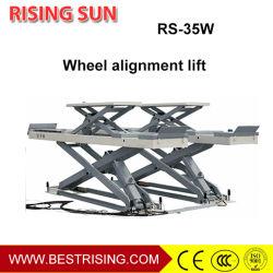 Автомобиль схождение колес используется автомобильный подъемный стол ножничного типа для продажи