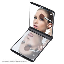 Ночное освещение LED Desktop косметический двухсторонний складной зеркало для макияжа