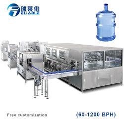 Automatische 5 Gallone beenden das 20 Liter-reine Wasser-Flaschen-durchbrennenfüllende Zeile Maschine