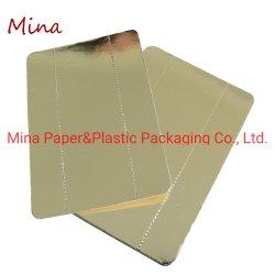 Schede dell'imballaggio di consegna dell'alimento laminate stagnola dorata di carta