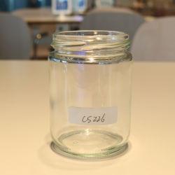 Il contenitore di vetro per alimento stona il vaso di vetro della salsa con i coperchi 230ml