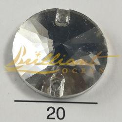 Crystal Rhinestones redonda de vidro para roupa de costura