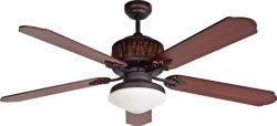 Ventilador de teto com luxo retro luz e puxe o controlo de corrente