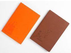 Material de oficina de promoción A5 A6 concisa blocs de notas de cuero de PU