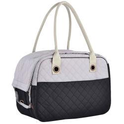 Sac de voyage personnalisé SAC SAC Pet de gros sac élégant 2 Tone matelassé voyage personnalisé recto doux pour chiens et chats fourre-tout transporteur Pet un sac à main