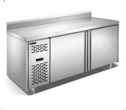 Exibir Frutos de carne Pizza cozinha de aço inoxidável sólido frigorífico / Bancada Tórax Frigorífico