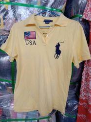 使用された着る大きいサイズの人の夏のポロシャツ