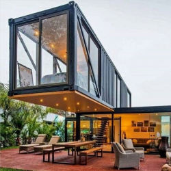 Restaurante portáteis modernos edifícios Contêiner Prefab House Novo
