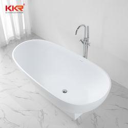 Commerce de gros pierre en résine Surface solide trempage autostable 1800mm baignoire