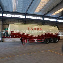 50cbm 低密度バルクセメント粉体資材輸送タンク半型 トレーラー