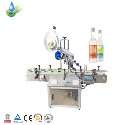 핫 세일 반자동 원형 병 라벨링 기계 라벨 어플리케이터 스티커 라벨 포장 기계 충전 캡핑 포장 기계 제조업체