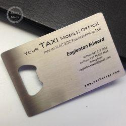 Acero inoxidable en blanco de metal barato abridores de la botella de la tarjeta de crédito, tarjeta de metal abridor de botellas de vino