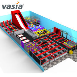 Crianças de equipamentos de playground coberto com espuma Pit trampolim OEM