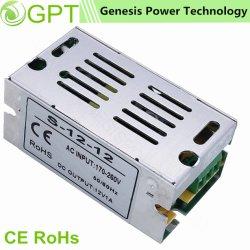 12V 24V 12Wは網のシェル、LEDのライトまたはストリップのためのIP 20 AC DCのアダプターLEDの電源が付いている出力切換えの電源を選抜する