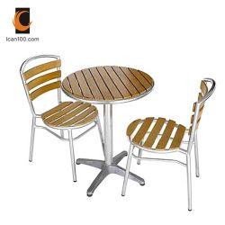 Matériel de loisirs intérieur moderne écologique Jardin meubles de patio Polywood Table Chaise ensemble