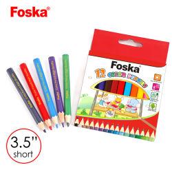 De alta calidad Foska 3.5'' 12 colores hexagonales de madera Juego de lápiz de color