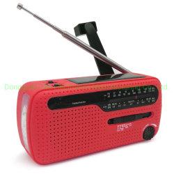 De beste ZonneRadio van Handcrank Am/FM van de Noodsituatie van de Dynamo Draagbare Mini met Super 3PCS LEIDEN Flitslicht