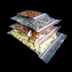 LDPE Retentor Plástico Ziplock Auto Grip alimento armazenamento em congelador Zipper Bag