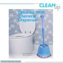 Brosse wc de haute qualité définie avec distributeur de produits chimiques Custmomized