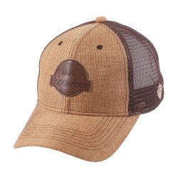 Сетка соломы летом бейсбола винты с Red Hat с кожаными логотип исправлений