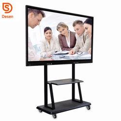 """LED 65"""" L'écran tactile multi touch affiche de la publicité interactive à écran plat LCD de l'éducation l'enseignant"""