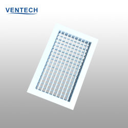 La Chine usine HAVC Aluminium Double Déflection Grille d'air d'alimentation
