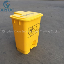 Больница желтый острые биологическую опасность и медицинских отходов пластиковые контейнеры мусорные контейнеры
