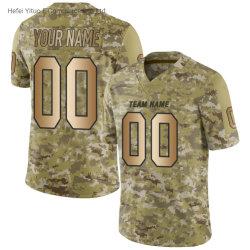 Печать Sublimated дешевые цены потоотделение Camo с коротким рукавом футбол спортивная одежда