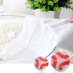 Tovagliolo di bagno a gettare del tovagliolo appiattito del cotone per l'hotel di viaggio