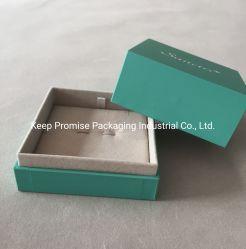 Embalagem de plástico azul Caixa de jóias Cufflink Pendente