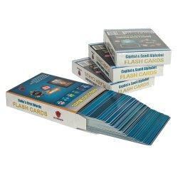 De Speelkaarten die van het Spel van het document het Onderwijs van de Kaart van de Flits van het Alfabet van de Douane voor Jonge geitjes afdrukken