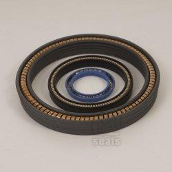 Fibra de vidro cheio de PTFE Retentor de Mola, mola de carbono vedantes de PTFE