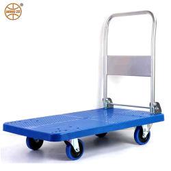 Chariot plate-forme Mingze Main/panneau en plastique/Chariot quatre roues du chariot