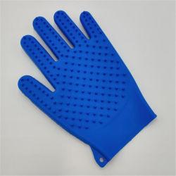 Magischer Silikon-Handschuh mit den Reinigungs-Pinsel-Wäscher-Handschuhen hitzebeständig, groß für Teller-Wäsche, Reinigung, Haustier-Haar-Sorgfalt