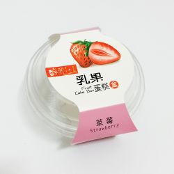 Salade de ronde clair jetable, gâteau aux fruits bol en plastique avec couvercle