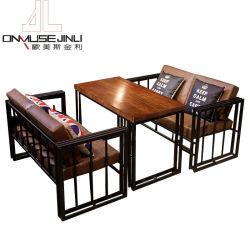 Europäische im Freienmöbel-Sets mit Edelstahl-Tisch-und Metallstuhl