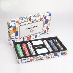 100 Schürhaken-Chips mit Spielkarten und Schürhaken-Matten-Schürhaken-Chip-Kasten