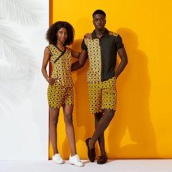 Gli Shorts africani di sport delle donne della stampa della cera della parte superiore della Jersey hanno impostato