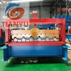 Chinesische Qualitätshersteller-Paralleltrapez-Dach-Panel-Rolle, die Maschine bildet