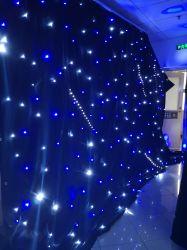 Telón de fondo LED decoración boda Star cortina con paño de terciopelo negro