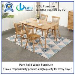 Accueil Mobilier Table en bois style contracté Table à manger moderne en bois bois massif