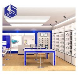 A decoração de loja de telefone celular Telefone celular suporte de monitor de acessório