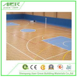 Suelos Deportivos de PVC para Suelos de Plástico con Patrón de Madera de Baloncesto Interior