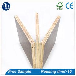 China Film enfrentou o contraplacado 1220*2440*9mm compensado de madeira de construção durável com placa de contraplacado
